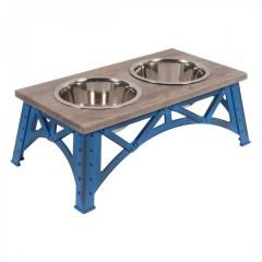 Mixáno miska  pro psy Industrial double (modrá)