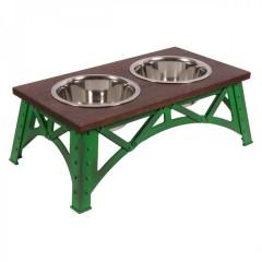 Mixáno miska  pro psy Industrial double (zelená)