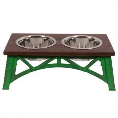 Mixáno miska  pro psy Industrial double (zelená) 1