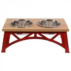 Mixáno miska  pro psy Industrial double (červená) 1